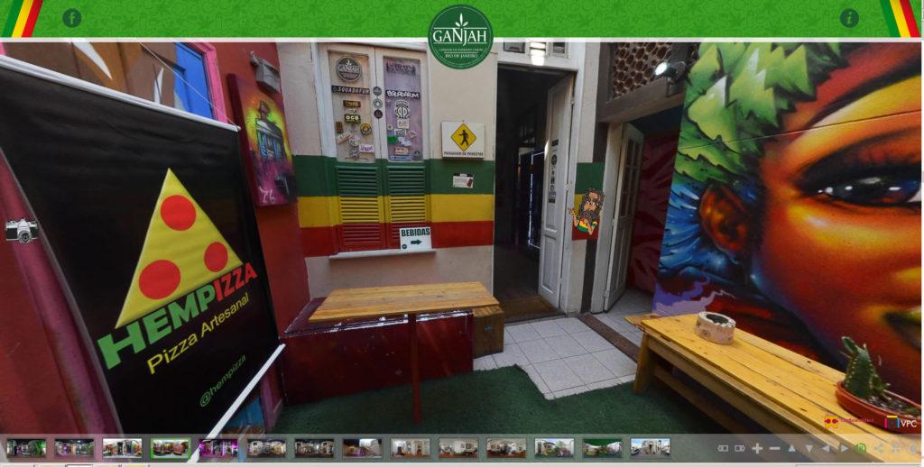 tour virtual realidade virtual ganjah rio de janeiro cardboardbrazil videopontocom hempizza