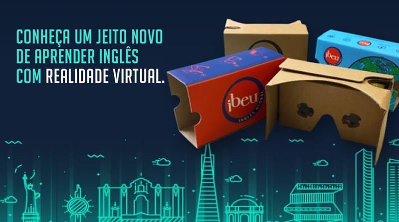 IBEU Inova utilizando a realidade virtual e o Cardboard 2.0 em aula de Inglês.